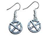 crossed field hockey sticks earrings